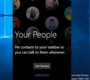 چگونه نوار افراد را در ویندوز 10 حذف کنیم؟