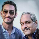 فرهاد مدیری پسر مهران مدیری در مراسم خاکسپاری عارف لرستانی+تصاویر