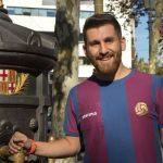 عکسی جالب از مسی و بدل ایرانیاش در بازی بارسلونا و مالاگا!