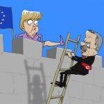 کاریکاتور مرکل کار اردوغان را یکسره کرد!