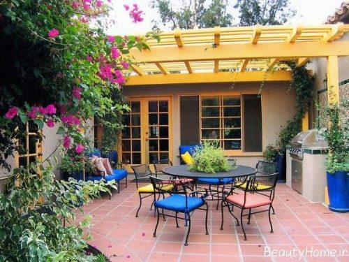 طراحی حیاط خلوت