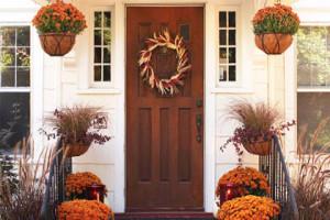 ایده زیباترکردن ورودی خانه تان درپاییز