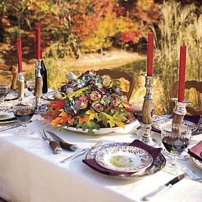 چیدمان میز پاییزی