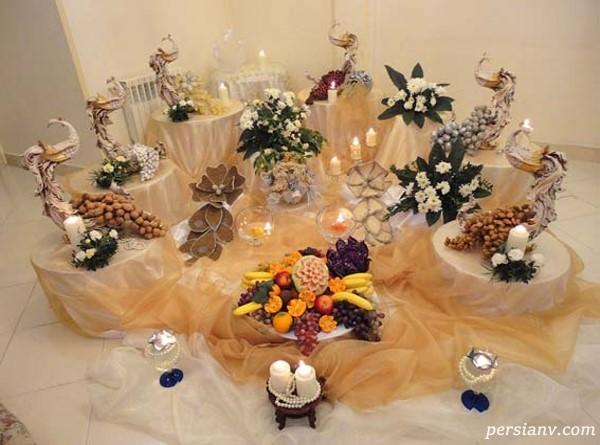 تزیین میز عروس و داماد