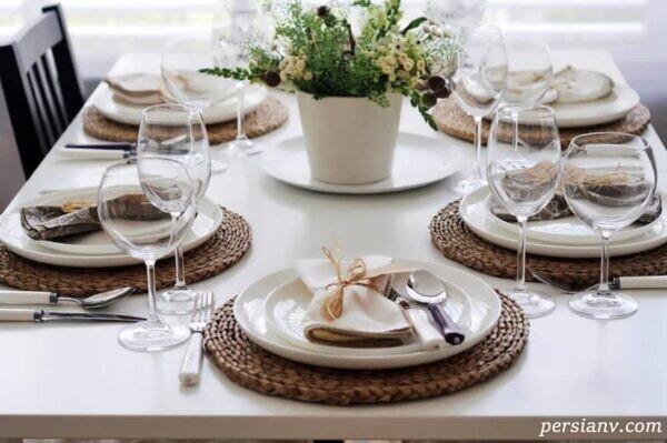 ایده های زیبای چیدمان میز غذاخوری در بهار