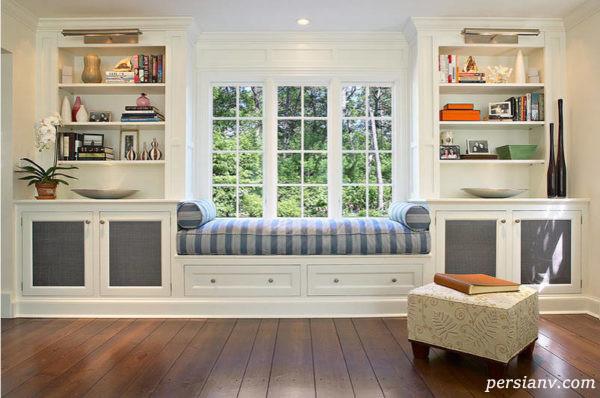 ۵ ایده جالب برای دکور محل نشستن در کنار پنجره +عکس