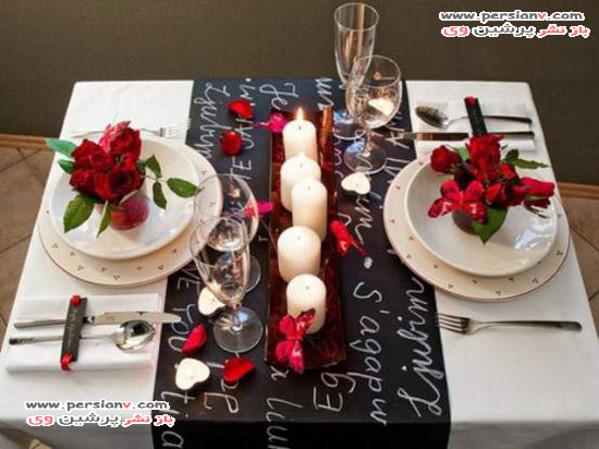 چیدمان میز رمانتیک