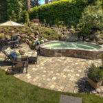 مدل فضاسازی حیاط و باغچه