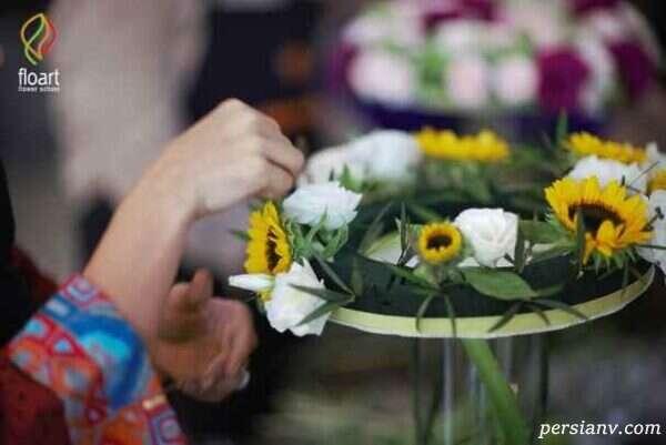 گل آرایی با گل خشک و تزئین ظروف
