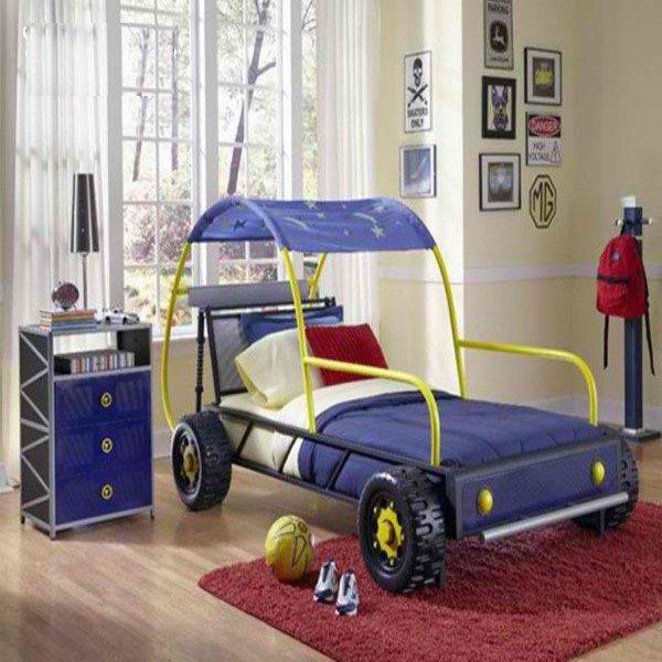 دکوراسیون اتاق خواب پسرانه با تم ماشین +عکس