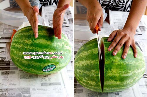 تزیین هندوانه یلدا
