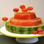 یک ایده زیبا و آسان برای قرار دادن هندوانه در سفره یلدا +عکس