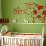 تزئین دیوار اتاق کودک با تکنیک استنسیل