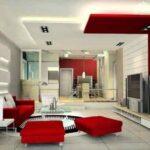 استفاده از رنگ قرمز در سالن پذیرایی