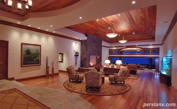 مدل طراحی های اتاق نشیمن چوبی +عکس