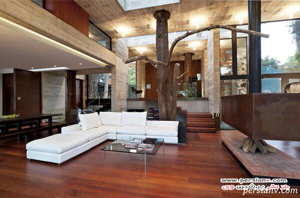 اتاق نشیمن چوبی