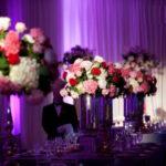 دکوراسیون زیبای میز عروسی به رنگ بنفش و یاسی +عکس