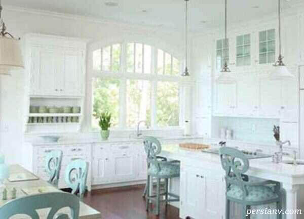 صندلی اپن در طراحی دکوراسیون آشپزخانه