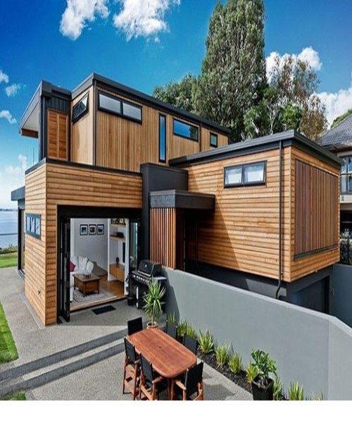 خانه ای با نما و دکوراسیون داخلی چوبی در نیوزیلند + تصاویر