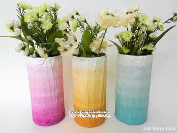 گلدان هایی با رنگ های سایه روشن