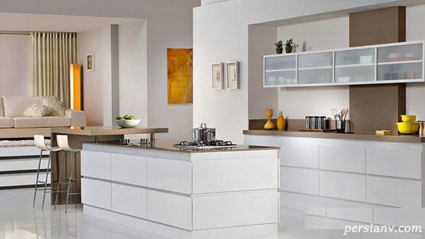 آشپزخانه های مدرن با کابینت های شیشه ای