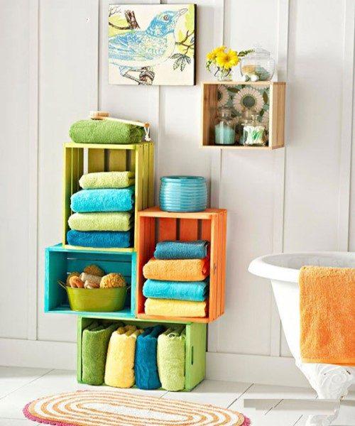 ایده های ابتکاری برای جای حوله در حمام و سرویس بهداشتی + عکس