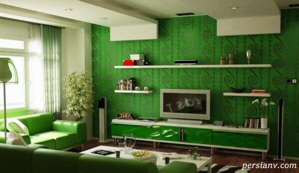 دکوراسیون خانه با طرح و رنگ خیره کننده سبز