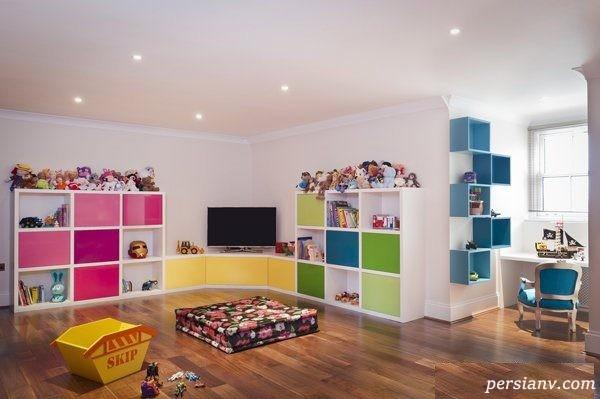 ایده های زیبا برای چیدمان یک اتاق بازی برای کودکان + عکس