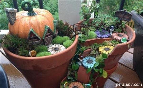 باغچه های جادویی ساخته شده از گلدان های شکسته!