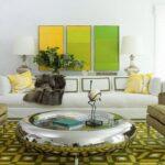 دکوراسیون بسیار زیبای اتاق نشیمن به رنگ سبز +عکس