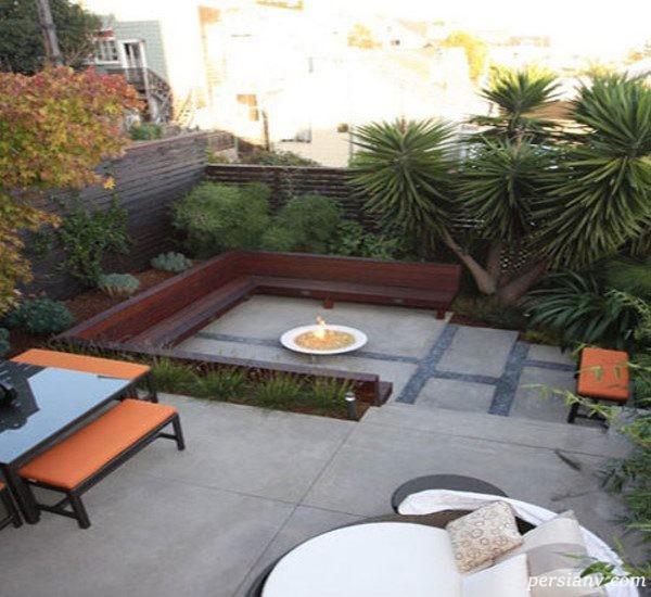 باغچه در حیاط کوچک
