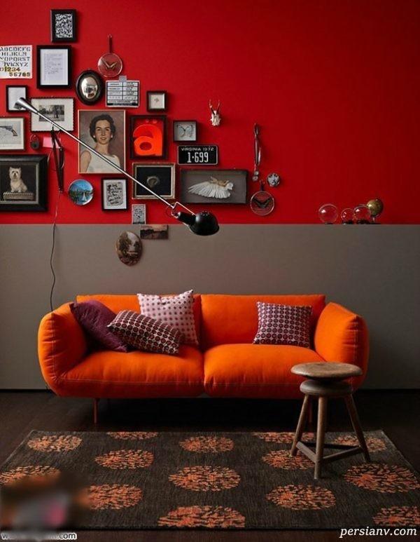 رنگ قرمز برای منزل