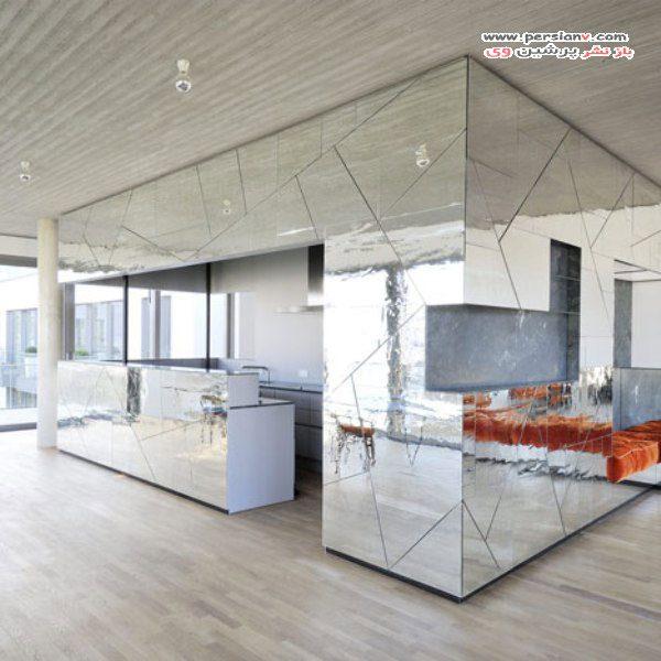 طراحی داخلی با آینه کاری