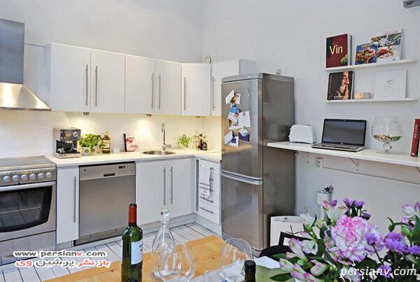 آشپزخانه کوچک و مدرن