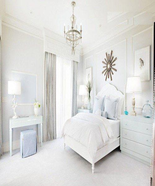 دکوراسیون های بی نظیر اتاق خواب به رنگ سفید +عکس
