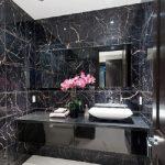 دیزاین مشکی فوق العاده شیک حمام و دستشویی