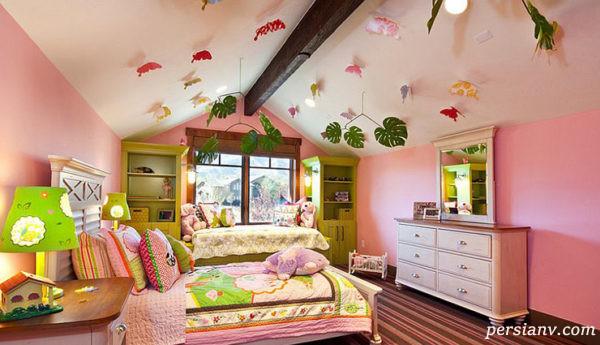 مدل های چشمگیر و بسیار زیبا از سقف اتاق کودک