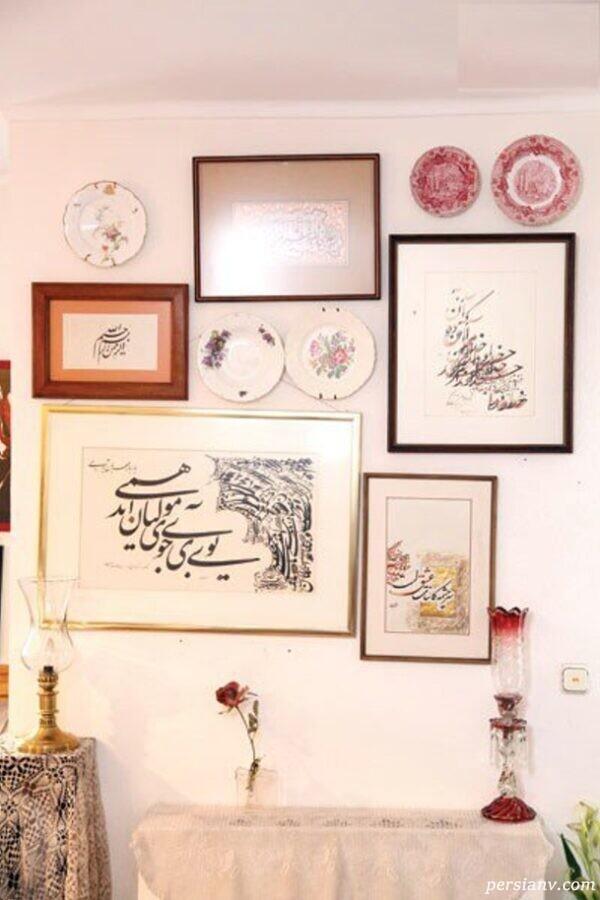 ظروف آنتیک دکوراسیون خانه مسعود فروتن