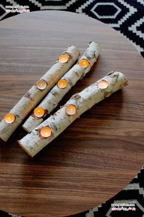 جا شمعی های چوبی