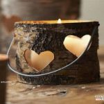 جا شمعی های چوبی زیبا برای گرمابخشیدن به دکور پاییزی +عکس