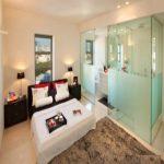 طراحی های خیره کننده حمام در اتاق خواب +عکس