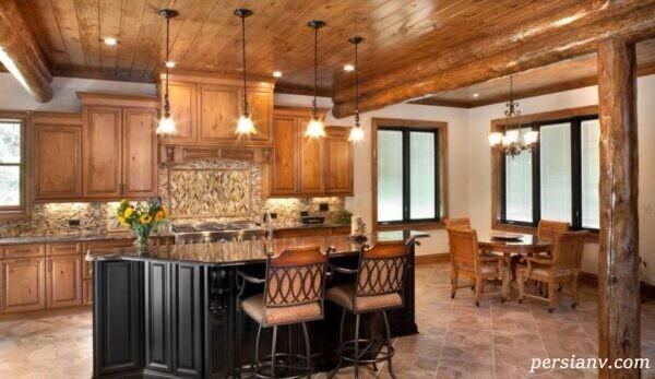 مدل آشپزخانه های بسیار شیک و مدرن چوبی