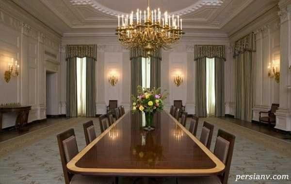 گلچینی از عکس های دکوراسیون داخلی کاخ سفید