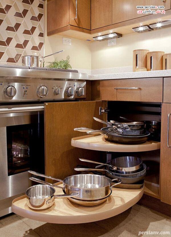 کشوهای گوشه آشپزخانه