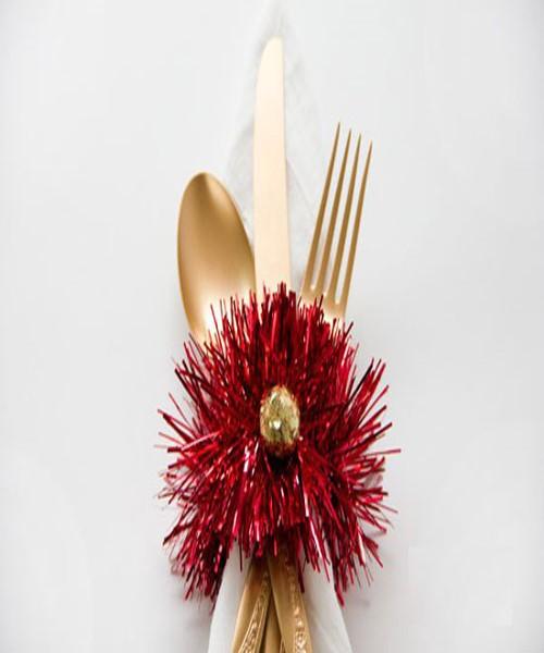 آموزش درست کردن چند حلقه دستمال سفره برای تزئین میز غذا +عکس