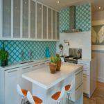 برچسب دیواری آشپزخانه های مدرن با طرح های هندسی + عکس