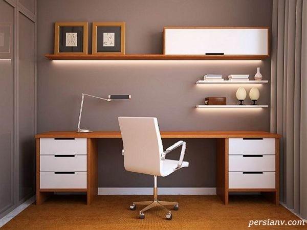 مدرن ترین میز تحریر و کامپیوتر کم جا +تصاویر