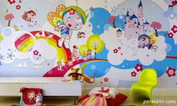 کاغذ دیواری های مدرن و جذاب کودکانه