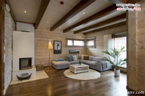 طراحی داخلی منزل با کفپوش چوبی