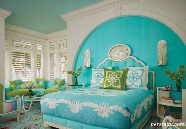 ۹ روش برای دکور کردن خانه به رنگ آبی فیروزه ای +عکس